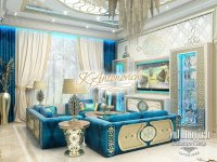 Living Room Interior in Oriental Style