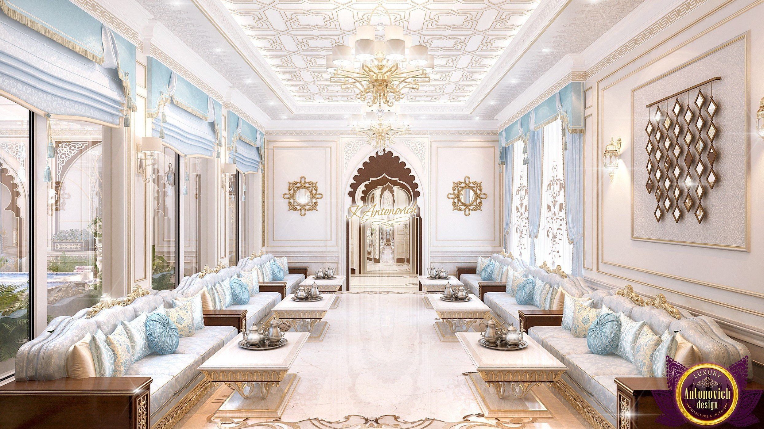 Classic luxury modern majlis design in saudi arabia -  Contemporary Living Room Other Metro Our Works Majlis Interior Design Arabic Majlis In Saudi Arabia L