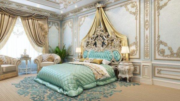 luxurious arabic style bedroom Admirable Master Bedroom Design in Dubai by Luxury Antonovich Design