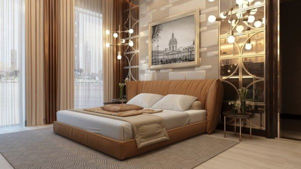 elegant bedroom interior design Admirable Master Bedroom Design in Dubai by Luxury Antonovich Design