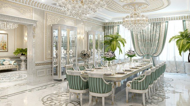 Dining Room Interior Design In Dubai By Luxury Antonovich