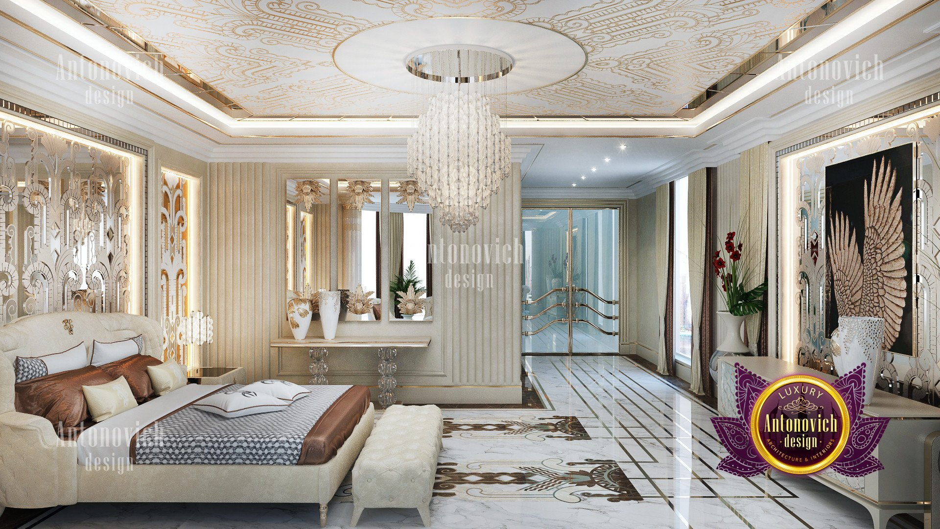 Modern Luxury bedroom decor  Luxury Antonovich Design USA