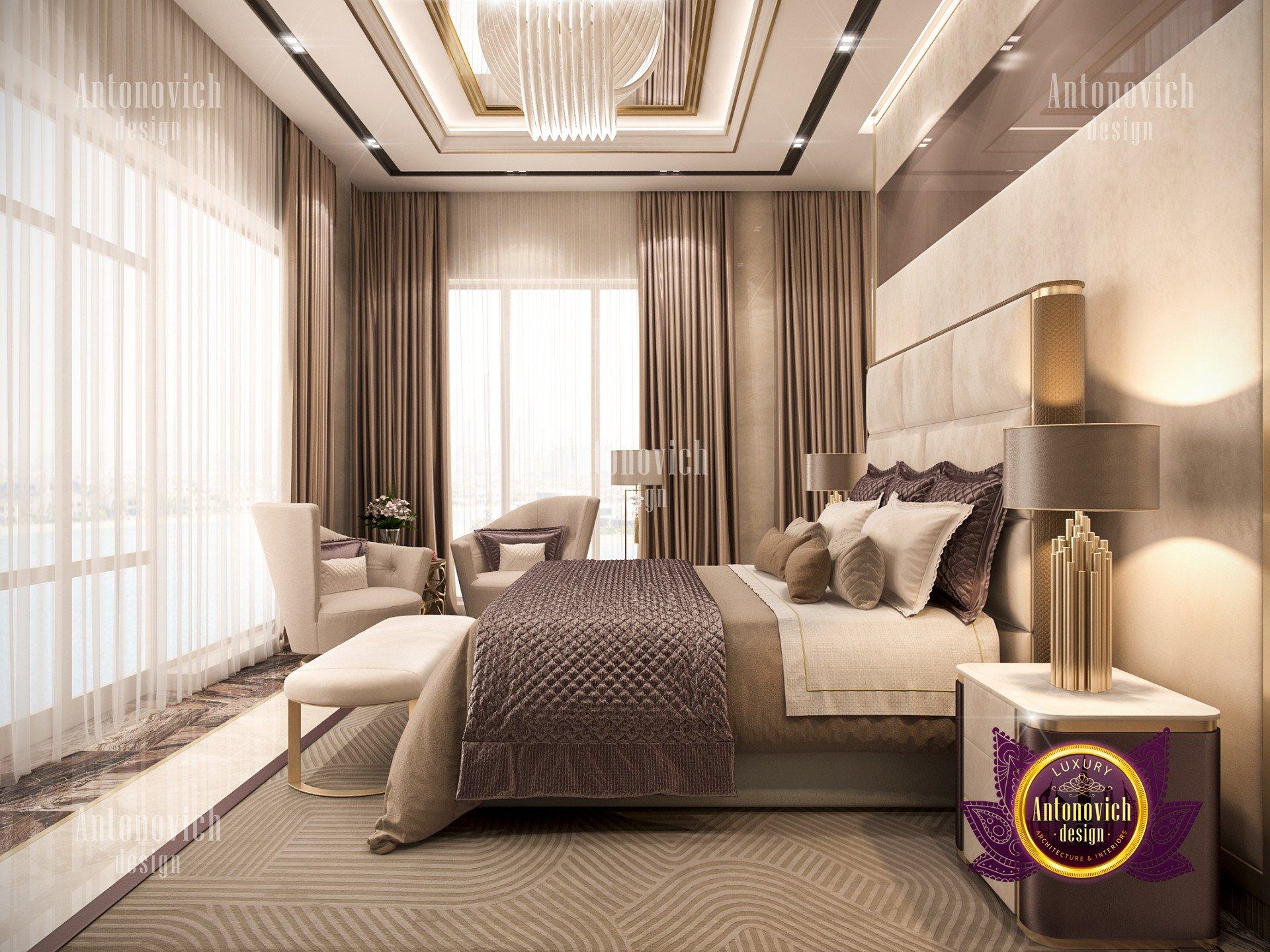 Nice bedroom interior  Luxury Antonovich Design USA