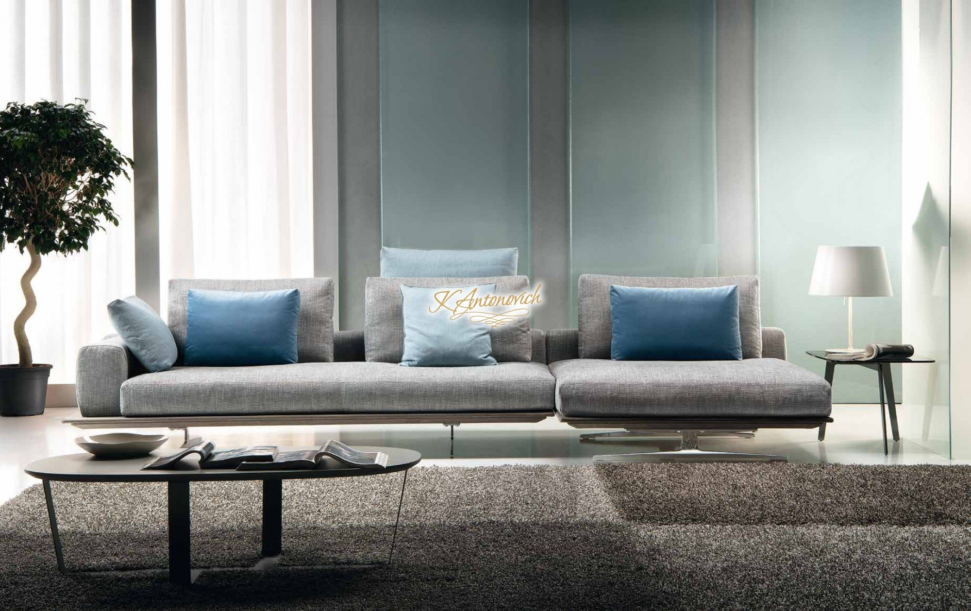 Here are five tips for choosing lighting for your living room. Modern italian living room furniture - luxury interior ...