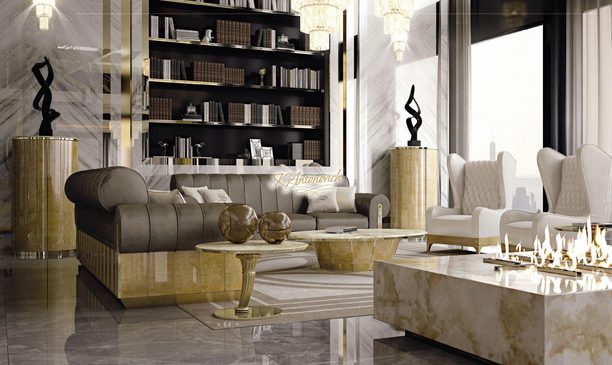 Luxury modern furniture   luxury interior design company in California