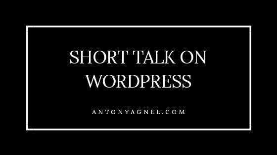 Short Talk On WordPress In Classroom