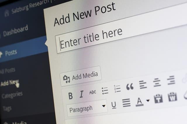 WordPress Classic Editor Screen