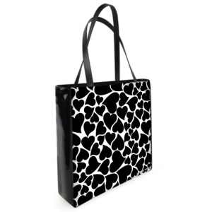 antony yorck shopper tasche love mit vielen herzen black white 129327 01b