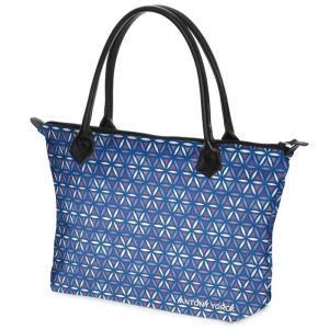 antony yorck shopper tasche vivalifa floral pattern print style purple white blue 140115 02