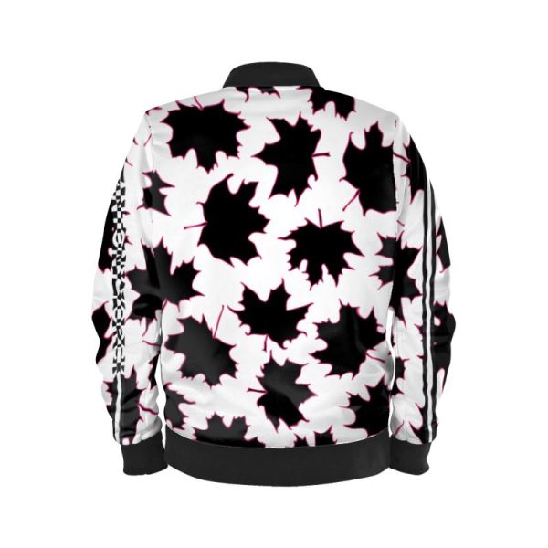 antony yorck blouson bomberjacke ml 001 maple leaf white purple black 161075 02