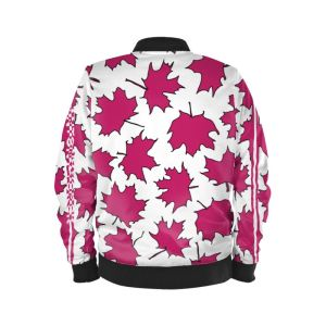 antony yorck blouson bomberjacke ml 002 maple leaf white magenta black 160470 02