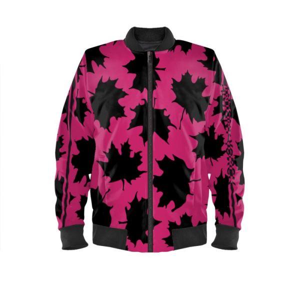 antony yorck blouson bomberjacke ml 006 maple leaf magenta black 161057 01