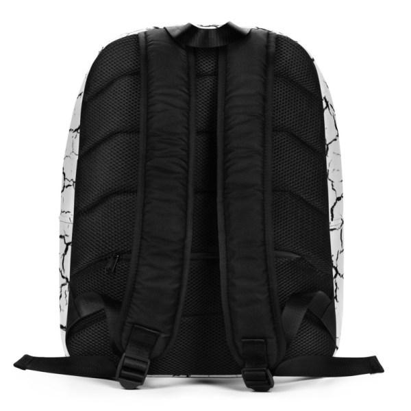 antony yorck rucksack craquelee weiss logo schwarz extra fach laptop notebook 15 zoll plus geheimfach wasserfest ansicht rueckseite