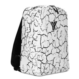 antony yorck rucksack weiss craquelee geheimfach 15 zoll laptop fach material polyester wasserfest robust damen herren logo schwarz ansicht links