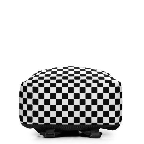 Antony Yorck • Rucksack • Caro Pattern mit Geheimfach • collection TOBUSY 4 antony yorck rucksack backpack caro patternschwarz weiss angebot 0007