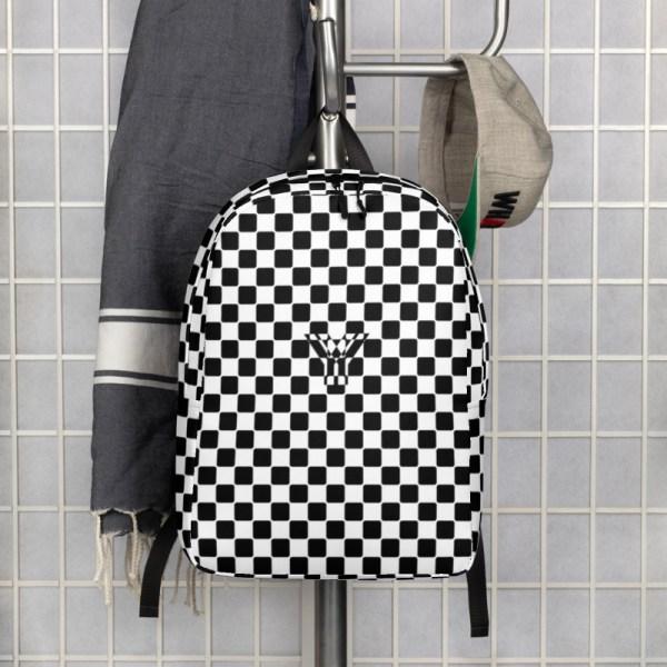 Antony Yorck • Rucksack • Caro Pattern mit Geheimfach • collection TOBUSY 6 antony yorck rucksack backpack caro patternschwarz weiss angebot 0010