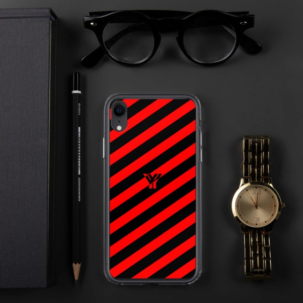 Antony Yorck • IPhone Hülle black and red • Collection OBVIOUS 27 mockup 1da94336