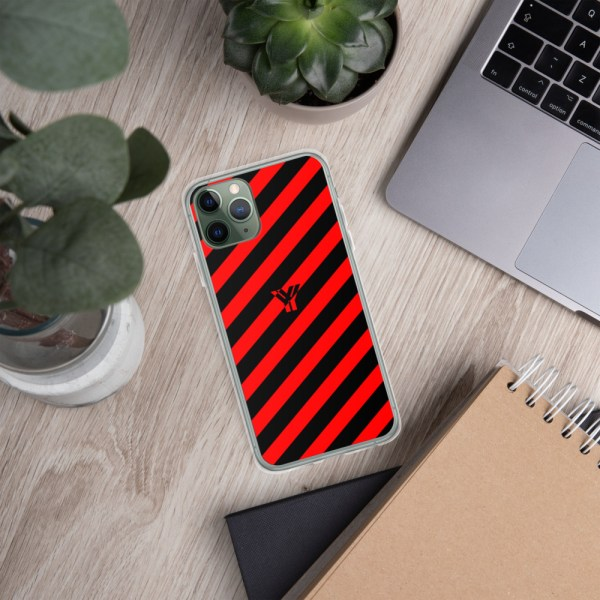Antony Yorck • IPhone Hülle black and red • Collection OBVIOUS 5 mockup 97227844