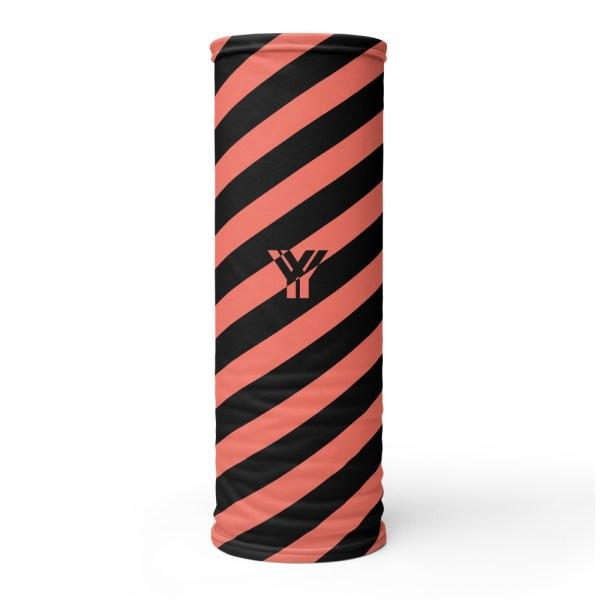 Antony Yorck • Multifunktionstuch korall / coral schwarz schräg gestreift • collection OBVIOUS 1 antony yorck multifunktionstuch coral schwarz gestreift neck gaiter 0021