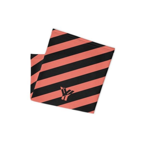 Antony Yorck • Multifunktionstuch korall / coral schwarz schräg gestreift • collection OBVIOUS 2 antony yorck multifunktionstuch coral schwarz gestreift neck gaiter 0034