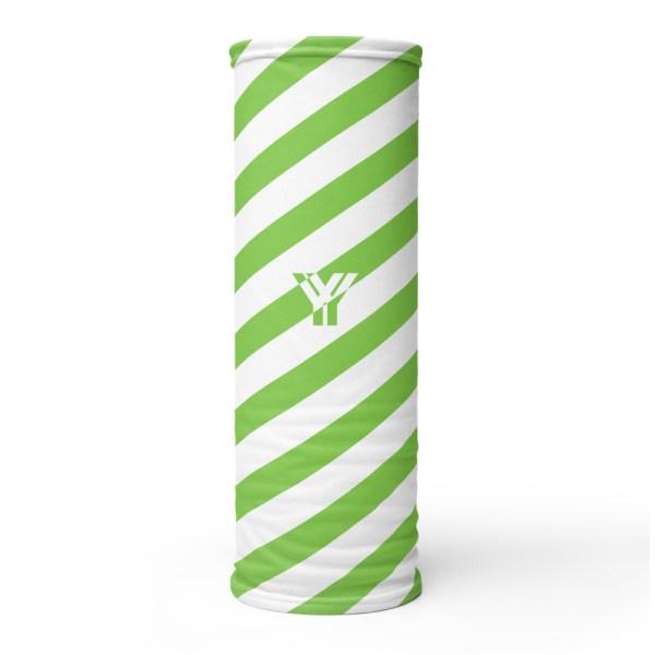 Antony Yorck • Multifunktionstuch grün weiß schräg gestreift • collection OBVIOUS 1 antony yorck multifunktionstuch gruen weiss gestreift schlauchschal streetwear 0014