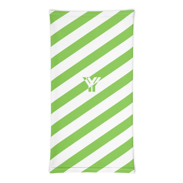 Antony Yorck • Multifunktionstuch grün weiß schräg gestreift • collection OBVIOUS 3 antony yorck multifunktionstuch gruen weiss gestreift schlauchschal streetwear 0033