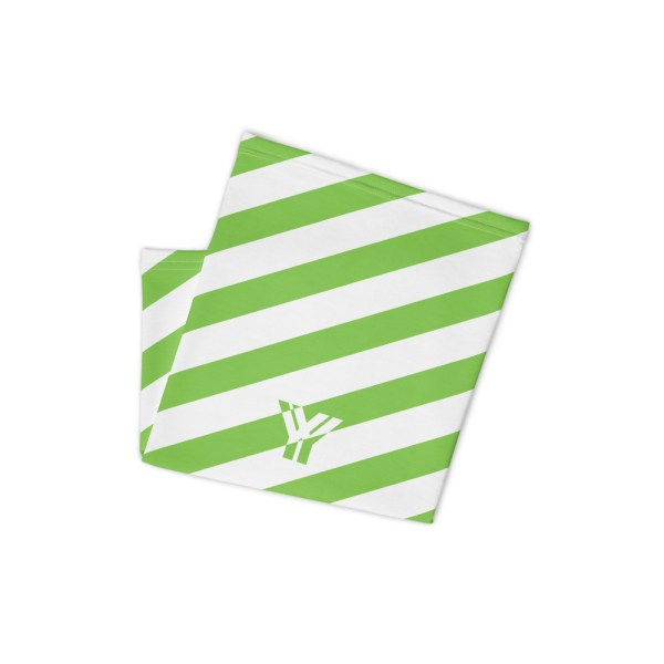 Antony Yorck • Multifunktionstuch grün weiß schräg gestreift • collection OBVIOUS 2 antony yorck multifunktionstuch gruen weiss gestreift schlauchschal streetwear 0034