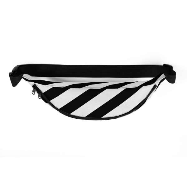 Antony Yorck • Gürteltasche • Fanny Pack • black and white stripes 3 mockup e3d688de