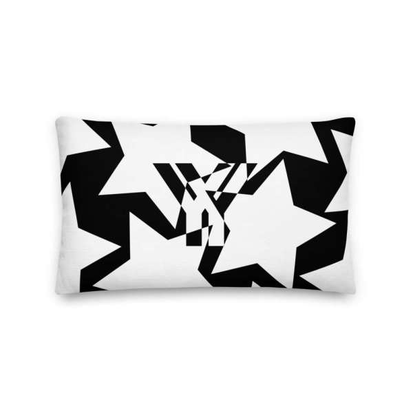 Dekoratives Sofa Kissen • Throw Pillow • Stars White on Black 3 mockup 0b318c7a