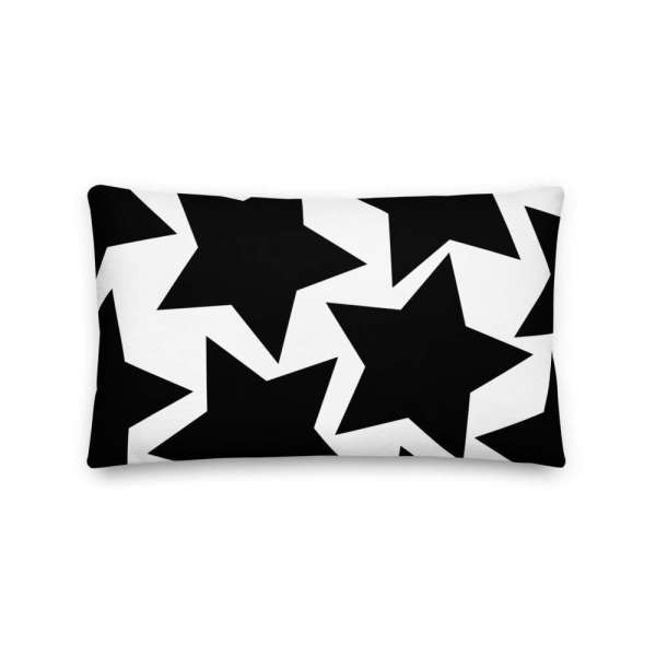 Dekoratives Sofa Kissen • Throw Pillow • Stars Black on White 4 mockup 6d84d56a