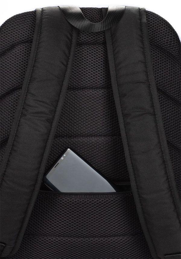 RUCKSACK STRIPES WHITE RED MIT LAPTOPFACH + GEHEIMFACH 5 rucksack backpack laptopfach pocket for laptop stripes white red 01