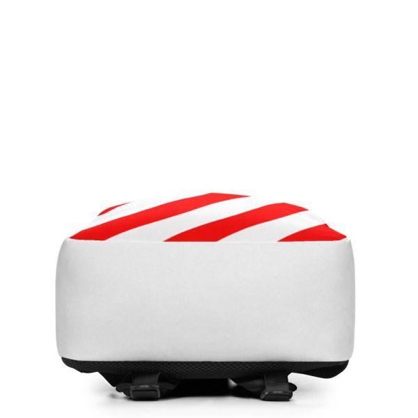 RUCKSACK STRIPES WHITE RED MIT LAPTOPFACH + GEHEIMFACH 4 rucksack backpack laptopfach pocket for laptop stripes white red 02