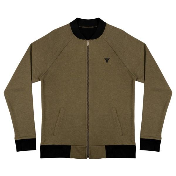 sweat jacket heather military green front flat antony yorck