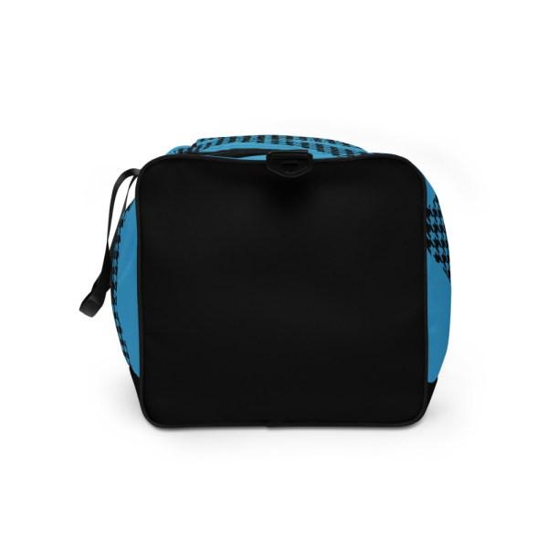 sporttasche trainingstasche houndstooth logo blue right view