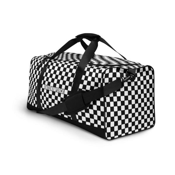 Reisetasche Karo Black White – Weekender Sporttasche Trainingstasche 2 reisetasche karo black white sporttasche weekender 07