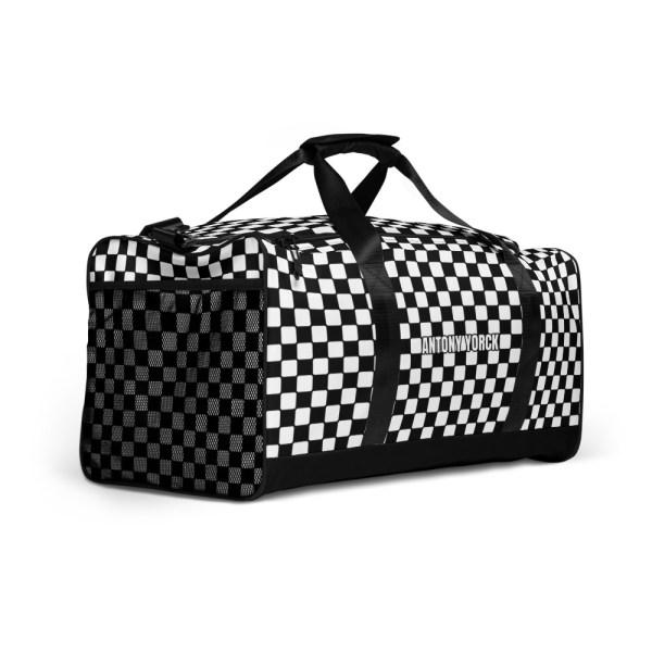 Reisetasche Karo Black White – Weekender Sporttasche Trainingstasche 9 reisetasche karo black white sporttasche weekender 15