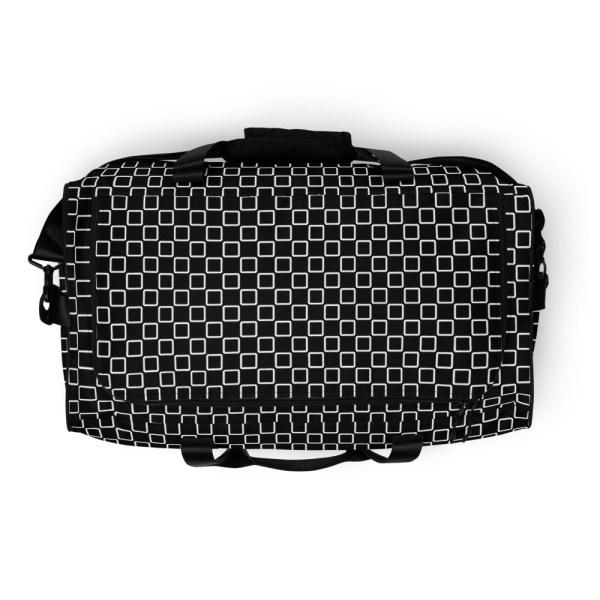 sporttasche trainingstasche karo checkers stepside black white top view