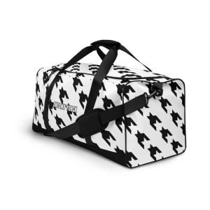 sporttasche trainingstasche houndstooth black white front left view