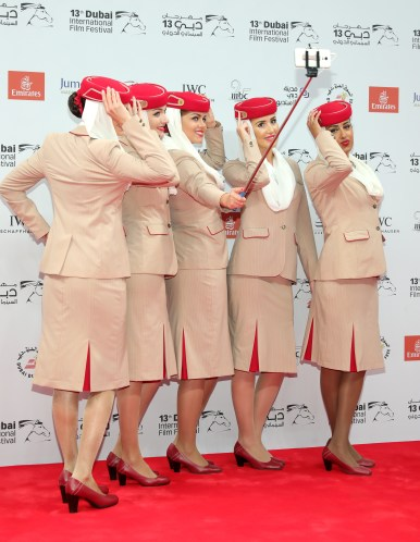 Gorgeous Emirates crew, photo credit DIFF team