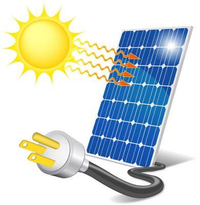 panele fotowoltaiczne zamieniają energię słoneczną na prąd