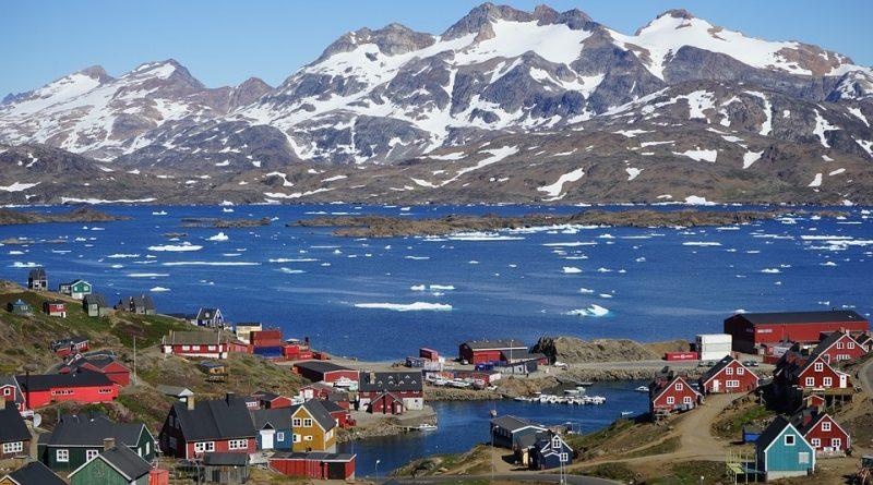 Mappa Geografica della Groenlandia territorio paesaggio