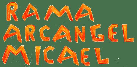 """Tipografía Artesanal con el texto """"Rama Arcángel Micael"""""""