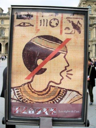 France. Louvre. Shut up