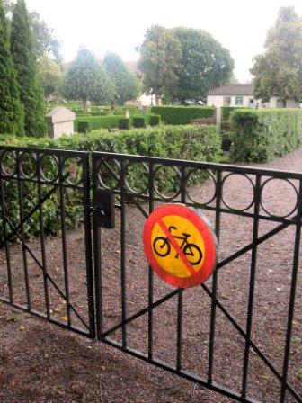 Sweden. Nyköping. Bike and cemetary