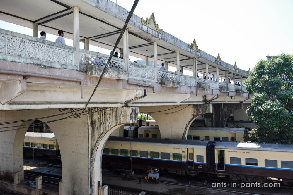 ЖД вокзал в Янгоне