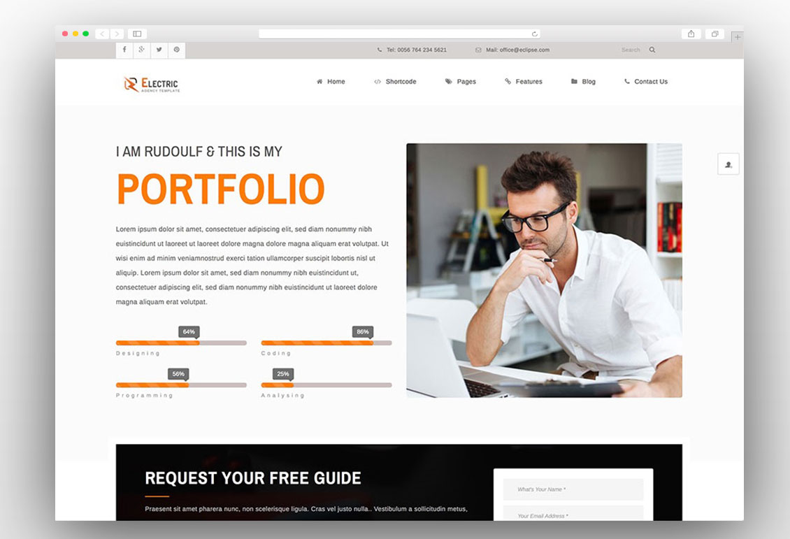 Wordpress Resume Themes 25 Best Vcard Wordpress Themes For Cv And Resume 2017