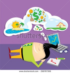 stock-vector-business-man-dreaming-concept-of-big-dreams-about-money-house-and-travel-sweet-dreams-cartoon-298767308