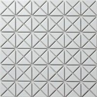 1'' Cheap Matte Porcelain Triangle White Tile Mosaic for ...