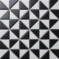 2'' Matte Multi Windmill Pattern Porcelain Triangle Mosaic