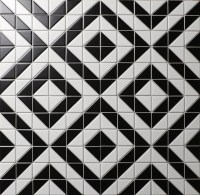 Black And White Porcelain Floor Tile | Tile Design Ideas